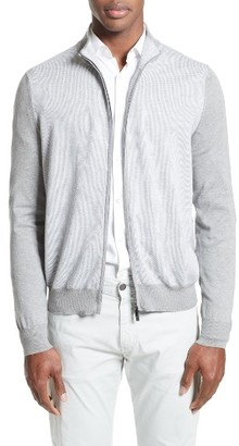Men's Canali Zip Sweater $385 thestylecure.com