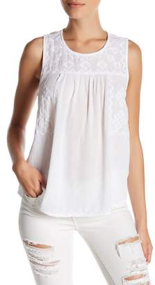 SUSINA Embroidered Sleeveless Blouse (Petite) $24.97 thestylecure.com