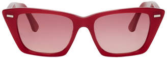 Acne Studios Red Ingridh Cat Eye Sunglasses