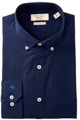 Original Penguin Tonal Stripe Heritage Slim Fit Dress Shirt