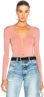 Alexander Wang Lace Up Bodysuit