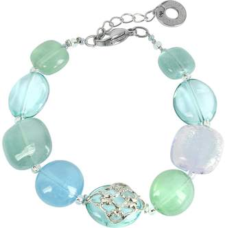 Antica Murrina Veneziana Florinda Top T Light Blue and Green Murano Glass Beads Bracelet