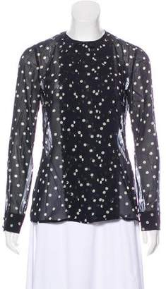RED Valentino Polka Dot Pleated Blouse