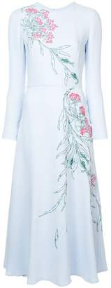Carolina Herrera embroidered midi dress