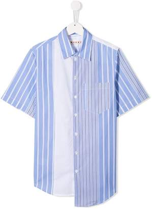 Marni striped asymmetric hem shirt