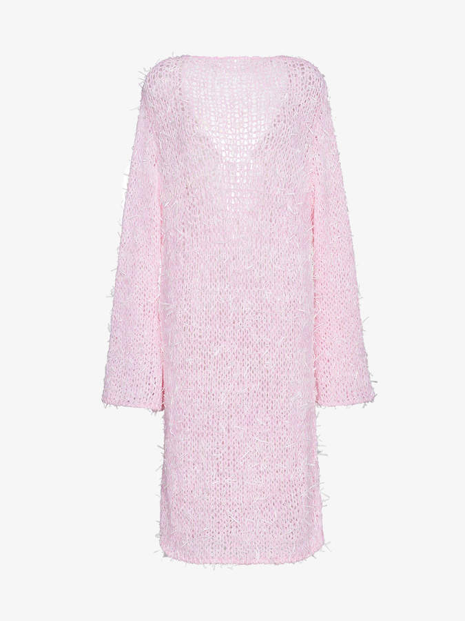 scoop back knitted jumper dress