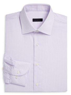 Saks Fifth Avenue COLLECTION Travel Mini-Grid Dress Shirt