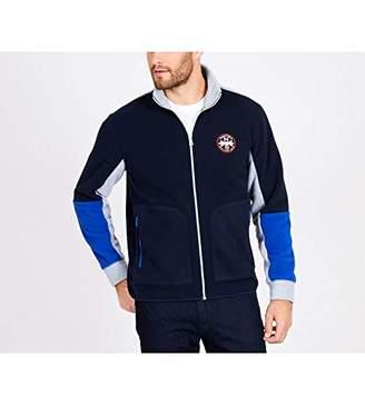 Nautica Men's Long Sleeve Zip Front Mock Neck Sweatshirt