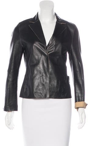 Jil SanderJil Sander Button-Up Leather Jacket