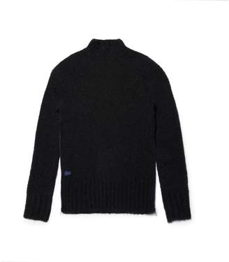 Lacoste Women's Stand-Up Collar Wool Loop-Pile And Alpaca Sweater