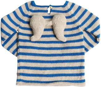Oeuf ANGEL STRIPED BABY ALPACA KNIT SWEATER