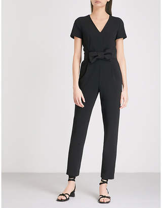 Claudie Pierlot Joe bow-detail crepe jumpsuit