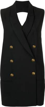 Versus open back blazer dress