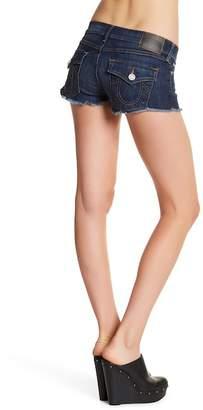 True Religion Joey Flap Pocket Cutoff Denim Shorts