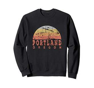 Portland Oregon Retro Vintage Sunset Sweatshirt