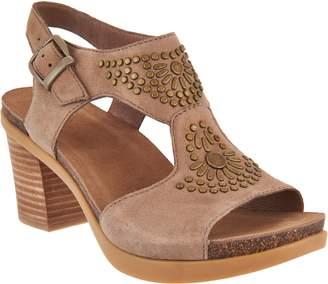 Dansko Nubuck or Suede Block Heel Sandals - Deandra