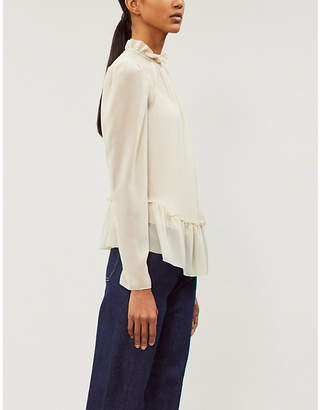 See by Chloe Frilled hem crepe top