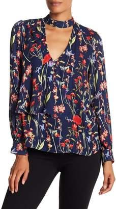 Parker Choker Neck Floral Print Blouse