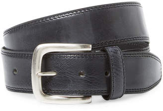 Berge Distressed Belt With Silver Buckle