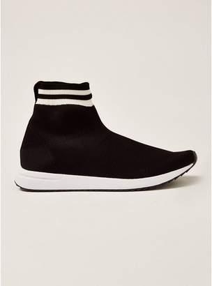 Topman Mens Black Knit Viper Sock Boots