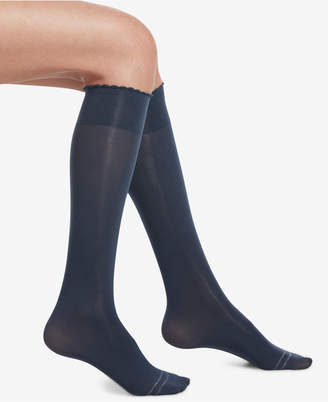 Hue Compression Opaque Knee-High Socks