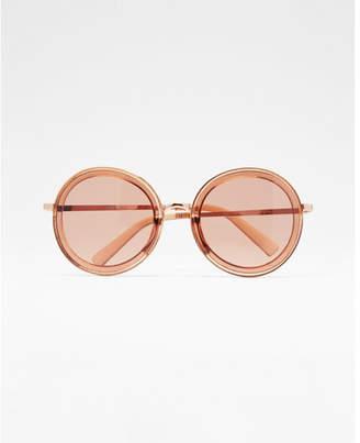 Express round transparent lens sunglasses