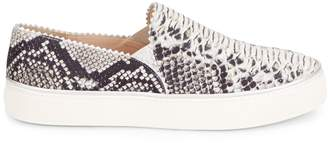Stuart Weitzman Nuggets Snake-Print Leather Skate Shoes