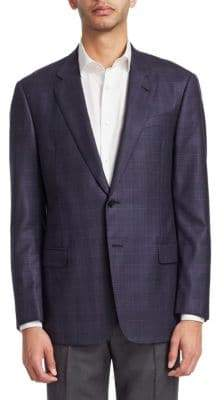 Giorgio Armani M-Line Plaid Wool Sporcoat