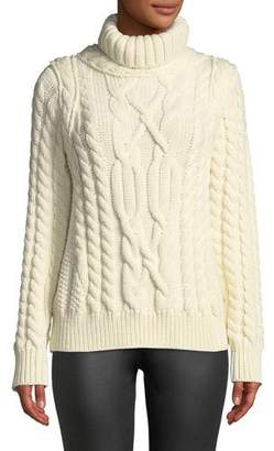 Moncler Maglione Chunky-Weave Wool Sweater