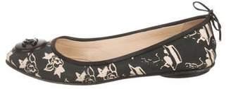 Chanel CC Printed Ballet Flats