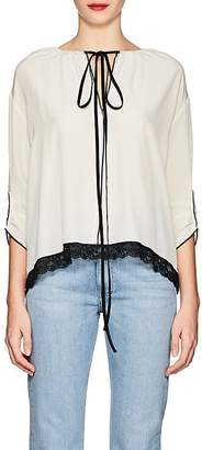 Marc Jacobs Women's Lace-Trimmed Silk Blouse