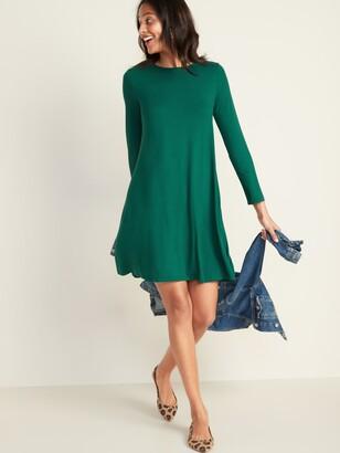 Old Navy Long-Sleeve Jersey-Knit Swing Dress for Women