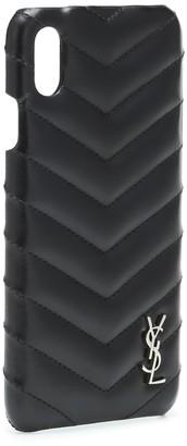 Saint Laurent Leather iPhone X case