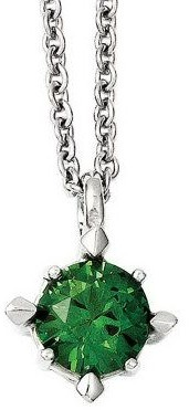 Steel By Design Stainless Steel Choice of Simulated Diamond Pendant