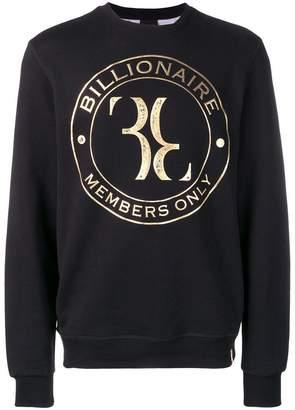 Billionaire logo print sweatshirt