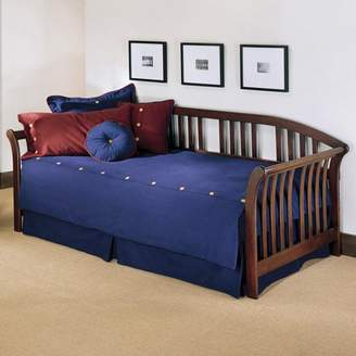 Leggett & Platt Salem Complete Wood Daybed with Link Spring Support Frame and Pop-Up Trundle Bed, Mahogany Finish, Twin