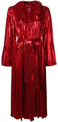 Couture Atu Body hooded sequin dress