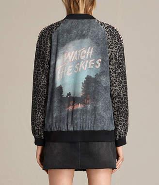 AllSaints Amy Skies Silk Bomber Jacket