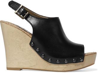 Sam Edelman Camilla leather wedge sandals $130 thestylecure.com