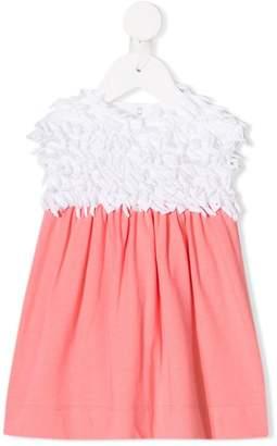 Il Gufo rag roll colourblock dress