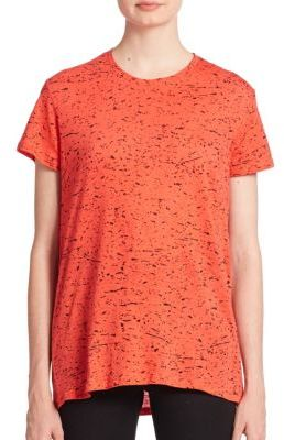 Proenza Schouler Cotton Tie-Back Printed Tee $350 thestylecure.com