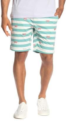 Scotch & Soda Bleached Stripe Chino Shorts