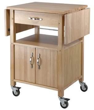 Red Barrel Studio Anthem Kitchen Cart with Wooden Top