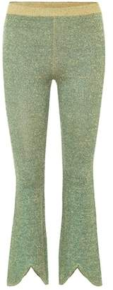J.W.Anderson Linen and lamé knitted trousers