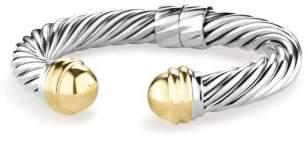 David Yurman Cable Classics Bracelet With 14K Gold, 10Mm