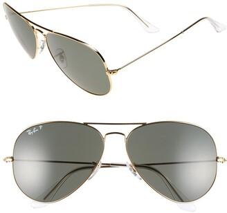Ray-Ban 'Aviator' Polarized 62mm Sunglasses