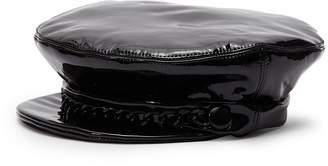 Eugenia Kim  Marina  chain patent leather newsboy hat 86afcda61993