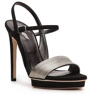 Calvin Klein Collection Kirsa Nubuck Leather Ankle Strap Sandal