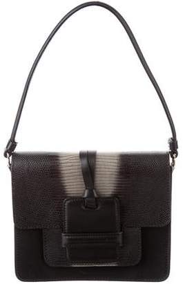 Devi Kroell Lizard-Trimmed Small Sutton Bag