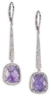 Meira T Tanzanite, Diamond& 14K White Gold Drop Earrings